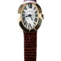 Cartier Baignoire Oro rosado 21mm Plata Romanos