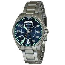 Hamilton Khaki Pilot Day Date nieuw Automatisch Horloge met originele doos H64615145