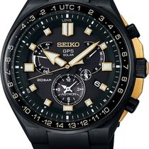 Seiko Astron GPS Solar Chronograph Titanium 46.7mm Black No numerals