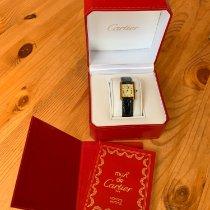 Cartier Tank Vermeil Gold/Steel 30mm Champagne Roman numerals