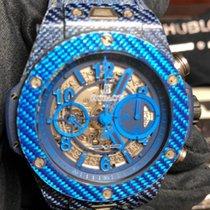 Hublot Big Bang Unico tweedehands 45mm Blauw Chronograaf Datum Rubber