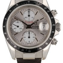 Tudor pre-owned Automatic 40mm Silver Sapphire crystal
