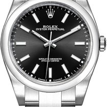 Rolex Oyster Perpetual 39 Stal 39mm Czarny