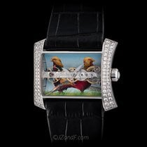 Corum 18k WG Golden Bridge Lady Bird Motif Miniature