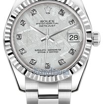 Rolex Datejust 31mm Stainless Steel 178274 Meteorite Diamond...