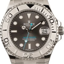 Rolex Platinum Automatic Grey No numerals 37mm new Yacht-Master 37