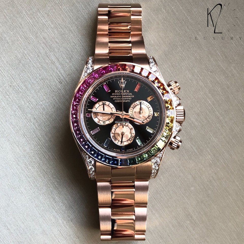 Rolex Daytona Rainbow in Everose Gold , 116595RBOW for Price