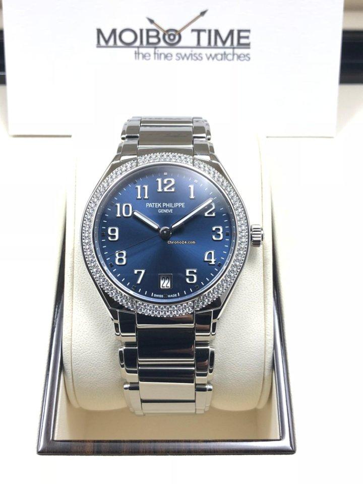d7379e16ddc Patek Philippe Lady Steel Diamond Twenty-4 Automatic Blue  NEW ...