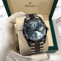 Rolex Day-Date 228206 Platinum Ice Blue Arabic Dial
