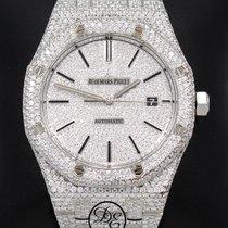 Audemars Piguet Royal Oak 41mm 20.75ct Diamonds Pave Dial...
