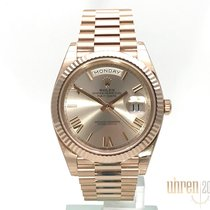 Rolex Rose gold Automatic Pink Roman numerals 40mm new Day-Date 40