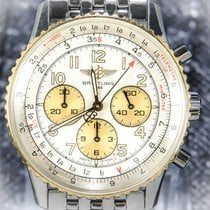 Breitling Old Navitimer Gold/Steel 40mm Silver Arabic numerals