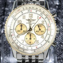 Breitling Navitimer Gold/Steel 40mm Silver Arabic numerals