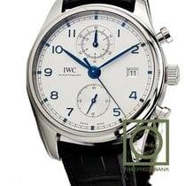 IWC Portuguese Chronograph Steel 42mm White Arabic numerals