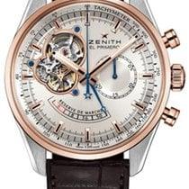 Zenith El Primero Chronomaster nouveau Remontage automatique Chronographe Montre avec coffret d'origine et papiers d'origine 51.2080.4021/01.C494