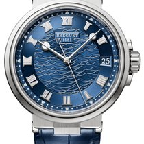 Breguet Marine White gold 40mm Blue Roman numerals