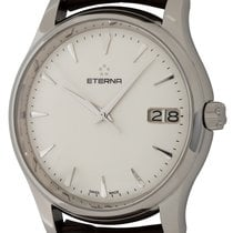 Eterna Steel Automatic White 42mm pre-owned Vaughan