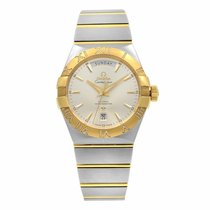 Omega Constellation Day-Date Acero 38mm Plata Sin cifras