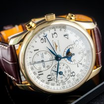 Longines Master Collection Yellow gold 40mm Silver Arabic numerals