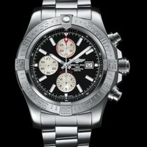 Breitling Super Avenger II Steel 48mm Black No numerals United States of America, New York, New York