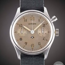 Lemania First Series with Fat Arrow MOD Dial Vintage 1945 brukt