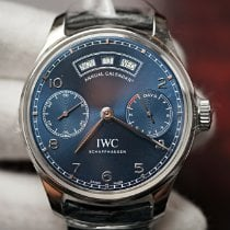 IWC Portuguese Annual Calendar Steel 44.2mm Blue Arabic numerals United States of America, Florida, Orlando