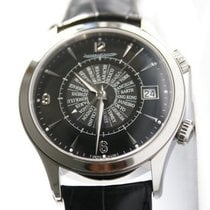 Jaeger-LeCoultre Master Memovox Steel 42mm Black Arabic numerals