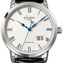 Glashütte Original Senator Panorama Date Steel 40mm Silver Roman numerals United States of America, California, Mission Viejo
