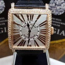 Franck Muller Master Square rose gold after market diamond...