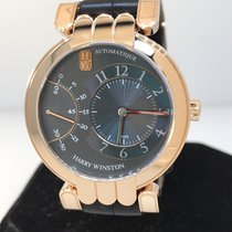 Harry Winston Pemier Excenter 18k Rose Gold Grey Dial Automati...