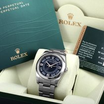 Rolex 2015 SS Oyster Perpetual Black Dial w/ Rolex Box & Papers