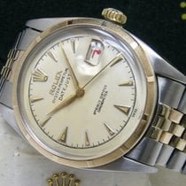 Rolex Datejust pre-owned 36mm White Date Perpetual calendar Gold/Steel