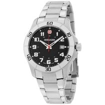 Wenger Black Dial Stainless Steel Men's Watch 70487