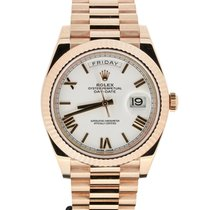Rolex Day-Date 40 Rose gold 40mm Brown United Kingdom, london