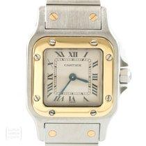 Cartier Santos Galbée gebraucht 21mm Gold/Stahl
