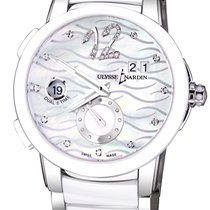 Ulysse Nardin Executive Dual Time Lady pre-owned 40mm Mother of pearl Date GMT