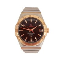 Omega Constellation Men Acier 38mm Brun