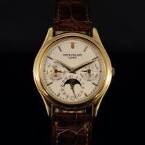 Patek Philippe Or rose Remontage automatique Argent Sans chiffres 36mm occasion Perpetual Calendar