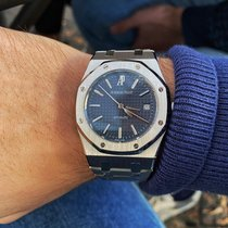 Audemars Piguet Royal Oak Selfwinding Acciaio 39mm Blu Senza numeri Italia, Messina