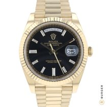 Rolex Or jaune Remontage automatique Noir 40mm occasion Day-Date 40