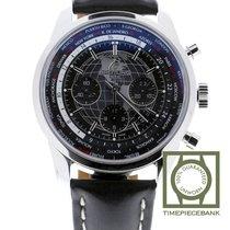Breitling Transocean Chronograph Unitime nouveau Remontage automatique Chronographe Montre avec coffret d'origine et papiers d'origine AB0510U4/BE84