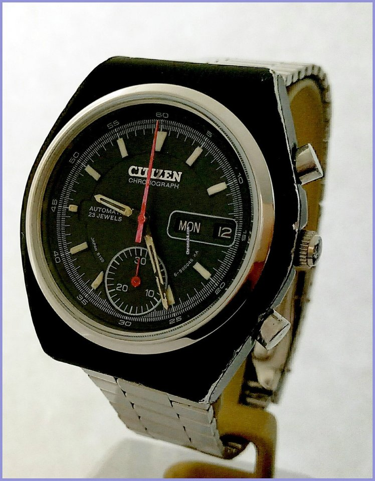 Citizen BLS Chronograph 67-9551 Automatic 23J Day Date 39mm Black for  500  for sale from a Trusted Seller on Chrono24 84e6fe683f