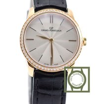 Girard Perregaux 1966 30mm Pink Gold Crocodile Strap Diamonds NEW