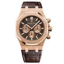 Audemars Piguet Royal Oak Chronograph Rose Gold Chocolate Dial...