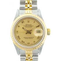 Rolex Datejust Ladies' 26mm Yellow Champagne Dial Yellow...