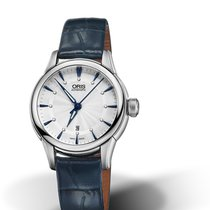 Oris CULTURA ARTELIER DATE DIAMONDS Silver Dial Blue Leather 31mm