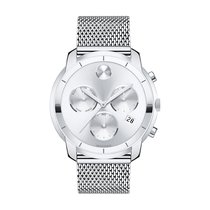 Movado Bold Silver Dial Stainless Steel Men's Watch 3600371