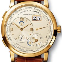 A. Lange & Söhne 18k Yellow Gold Silver Dial Time Zone 1  116.021