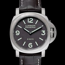 Panerai Titanium Manual winding Brown 44.00mm new Luminor Base 8 Days