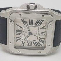 Cartier Santos 100 Steel 38mm Silver Roman numerals